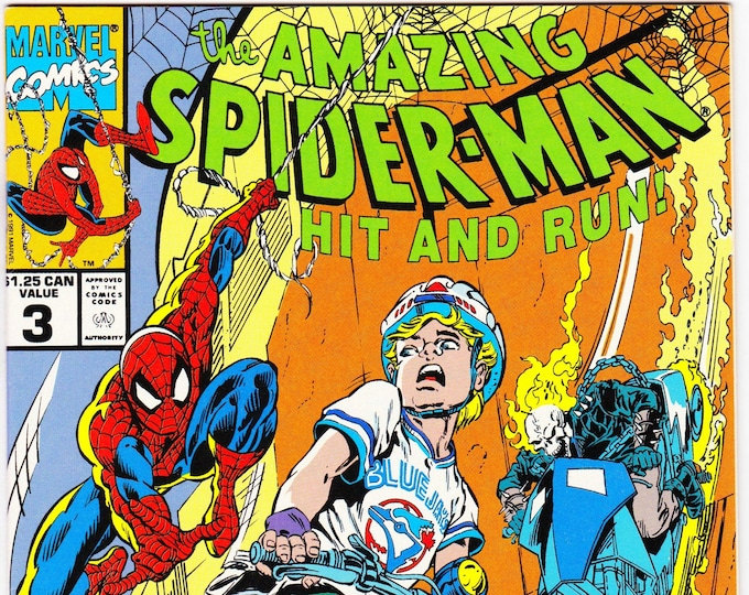 Amazing Spider-Man Hit and Run #3 (Canadian Edition) 1990  Marvel Comics  Grade NM