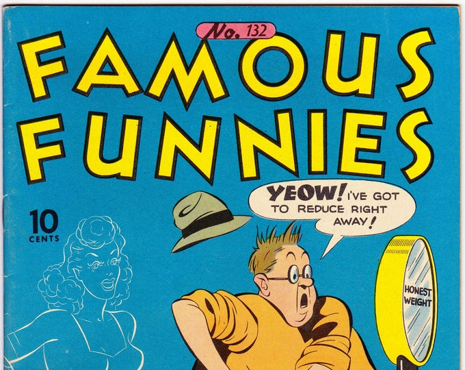 Famous Funnies #132 (1934) July 1945   Famous Funnies  Grade VF
