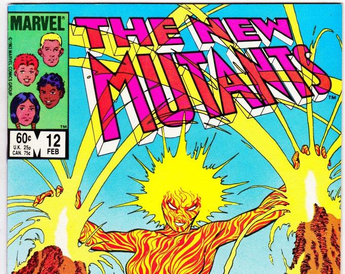 New Mutants #12 (1983 1st Series) February 1984  Marvel Comics Grade VF