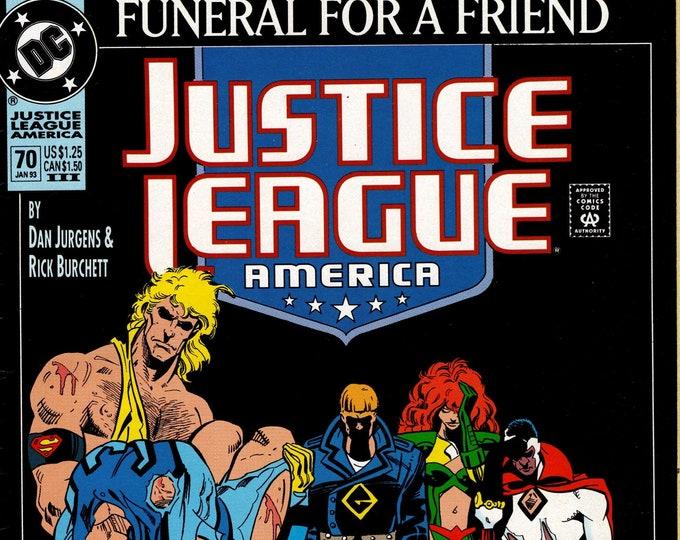 Justice League of America #70 (Third Printing) January 1993   DC Comics   Grade VF