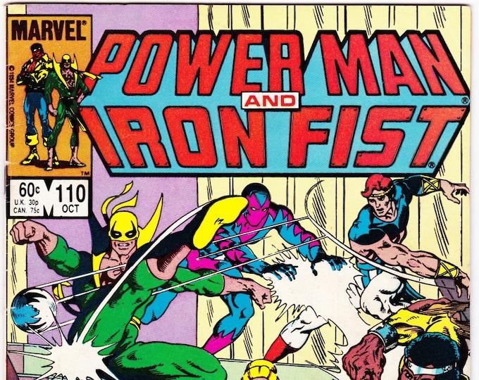 Power Man and Iron Fist #110   October 1984    Marvel Comics   Grade Fine