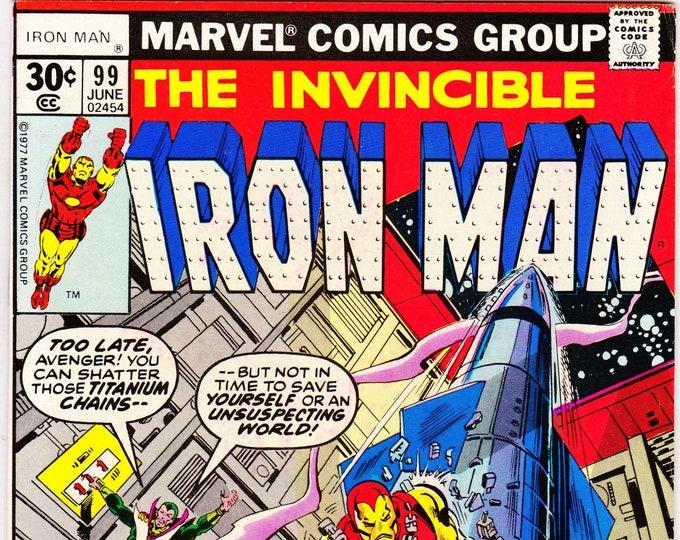 Iron Man #99 (1st Series 1968 ) June 1977    Marvel Comics  Grade VF+