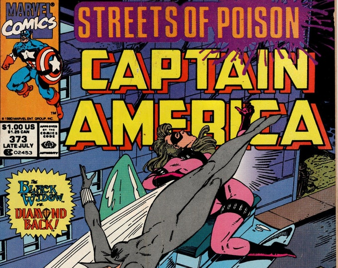 Captain America #373 (1st Series 1968) July 1990 Marvel Comics Grade VG/F