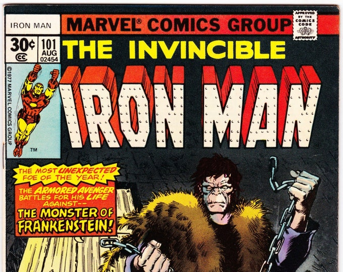 Iron Man #101 (1st Series 1968 ) August 1977    Marvel Comics  Grade VF