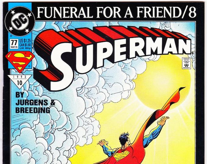 Superman #77 (2nd Series 1987) March 1993   DC Comics  Grade NM