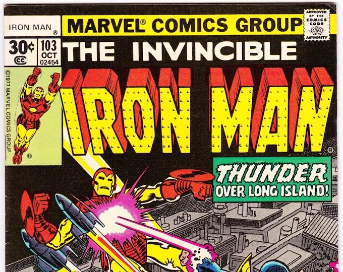 Iron Man #103 (1st Series 1968 ) October 1977    Marvel Comics  Grade F/VF