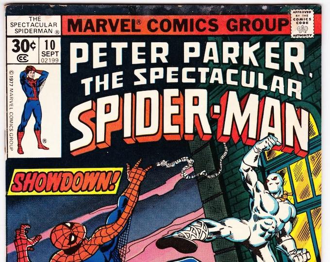 Spectacular Spider Man #10 (1st Series 1976) September 1977  Marvel Comics  Grade VG/F