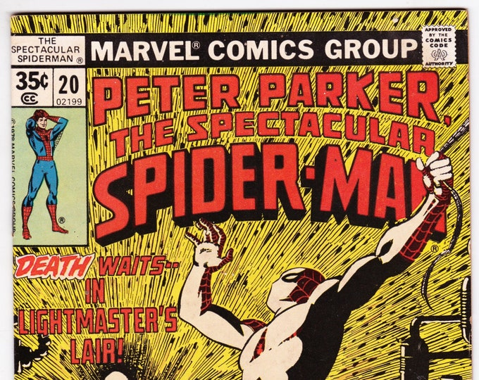 Spectacular Spider Man #20 (1st Series 1976) July 1978   Marvel Comics  Grade Fine-
