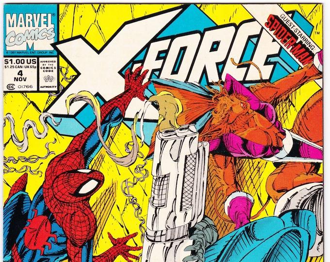 X-Force #4 (1991 Series) November 1991    Marvel Comics   Grade NM