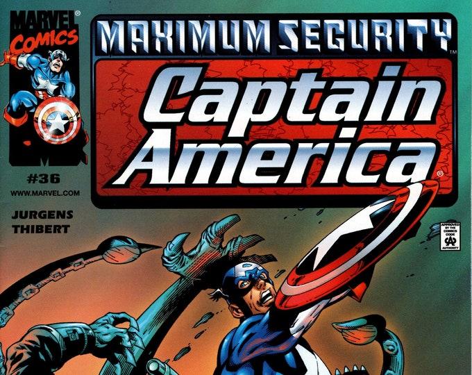 Captain America #36 December 2000  Marvel Comics  Grade NM