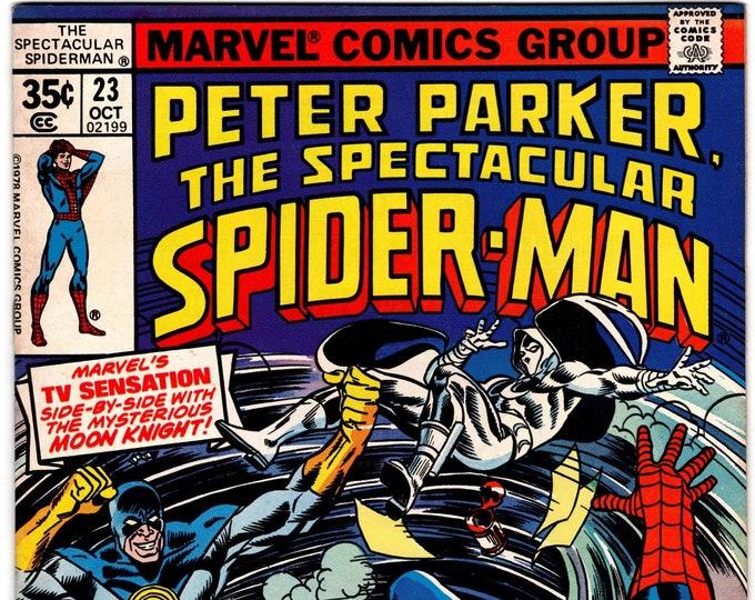 Spectacular Spider Man #23 (1st Series 1976) October 1978   Marvel Comics  Grade VF+
