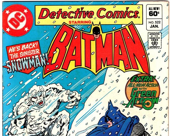 Detective Comics #522 (1st Series 1937) January  1983  DC Comics  Grade Fine +