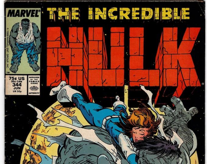 Incredible Hulk #344  June 1988    Marvel Comics   Grade F/VF
