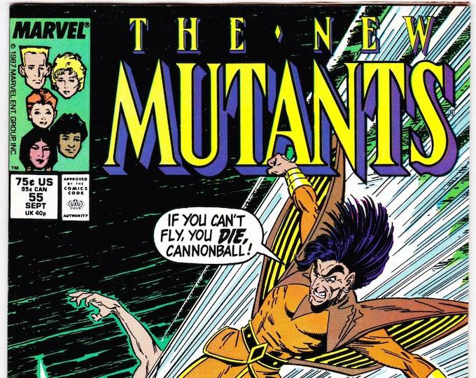New Mutants #55 (1983 1st Series) September 1987  Marvel Comics Grade VF