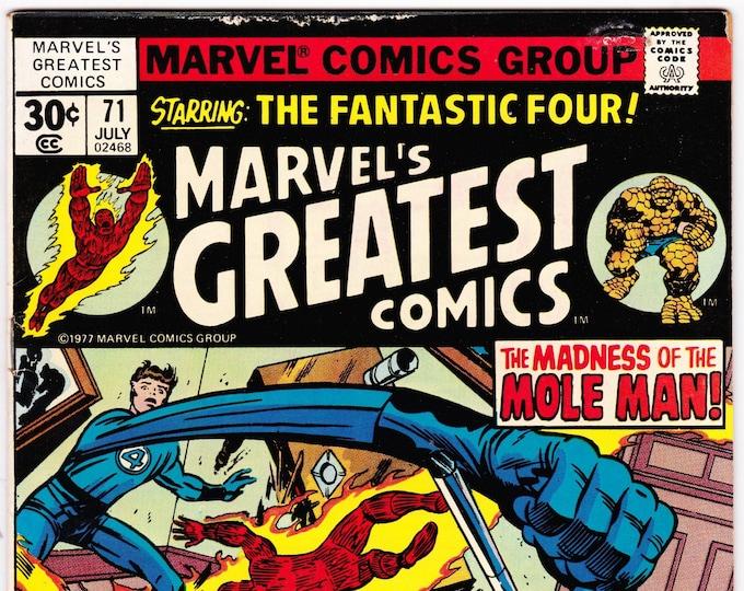 Marvel's Greatest Comics #71 (1st Series 1969) July 1977  Marvel Comics  Grade Fine