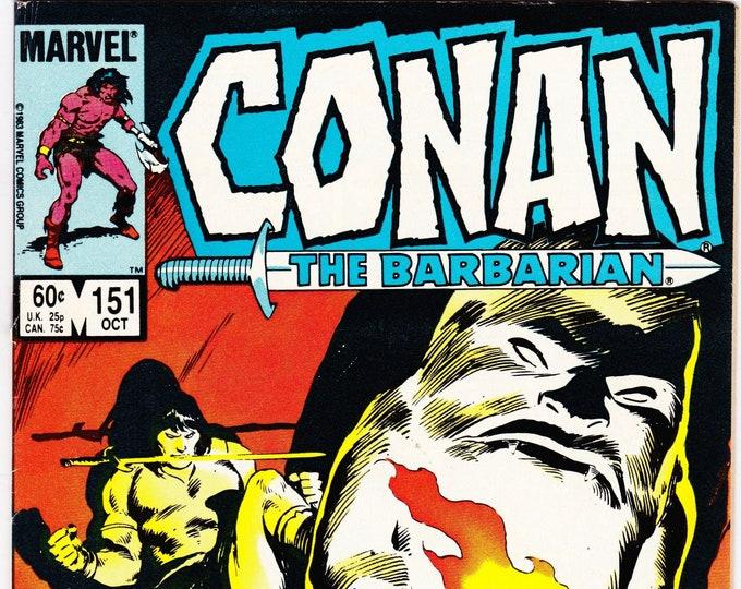 Conan the Barbarian #151 (1st Series 1970) October 1982    Marvel Comics   Grade Fine+