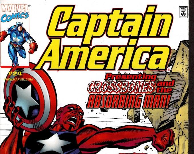 Captain America #24 December 1999  Marvel Comics  Grade NM