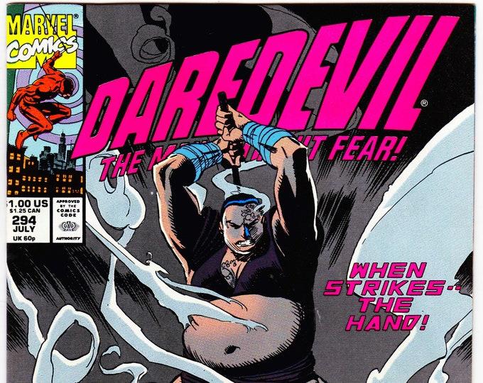 Daredevil #294 (1st Series 1964) July 1991  Marvel Comics  Grade VF