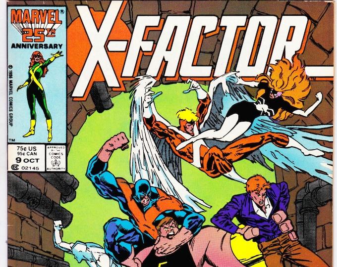 X-Factor #9 (1st Series 1986) October 1986   Marvel Comics   Grade Fine