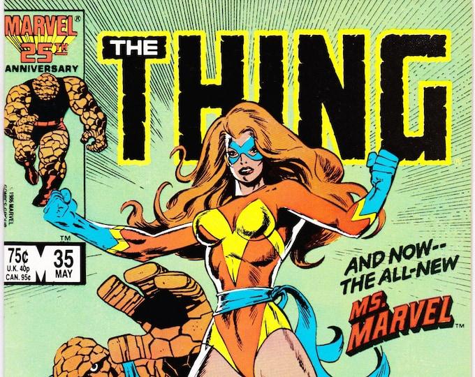 Thing #35 ( 1st Series 1983-1986) May 1986     Marvel Comics   Grade NM
