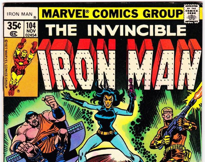 Iron Man #104 (1st Series 1968 ) November 1977    Marvel Comics  Grade Fine