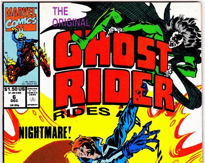 Ghost Rider #6  December 1991    Marvel Comics   Grade VF