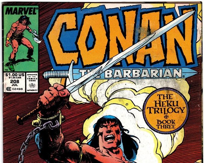 Conan the Barbarian #208   July 1988  Marvel Comics  Grade VG/F