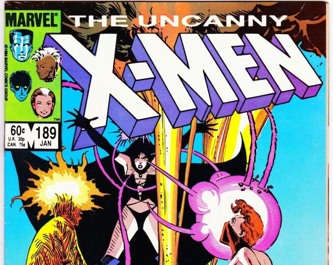 Uncanny X-Men #189   January 1985  Marvel Comics  Grade NM