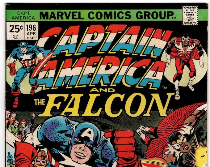 Captain America #196 (1st Series 1968) April 1976    Marvel Comics  Grade VF
