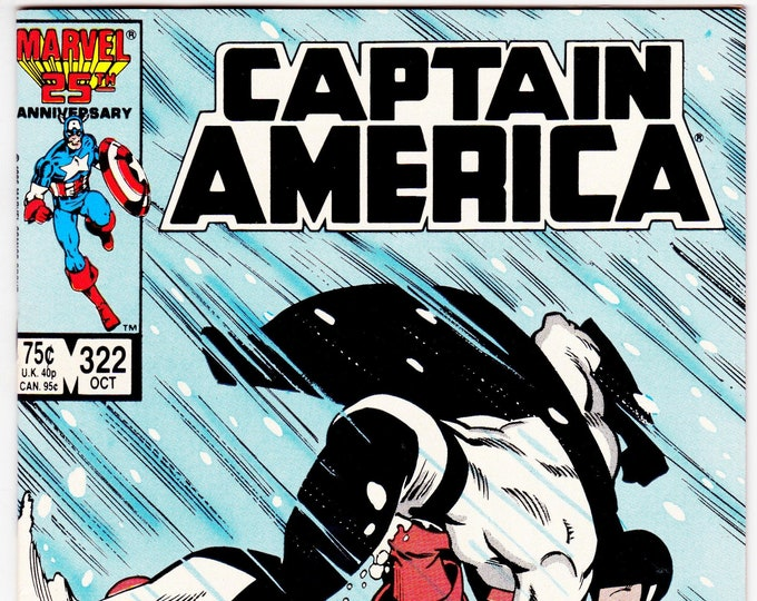 Captain America #322 (1st Series 1968) October 1986   Marvel Comics   Grade NM