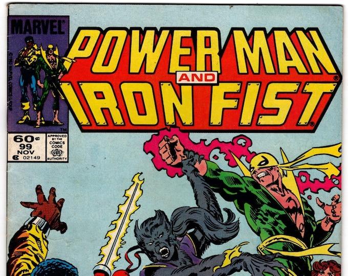 Power Man and Iron Fist #93 (1972 Hero for Hire) November 1983    Marvel Comics   Grade Fine