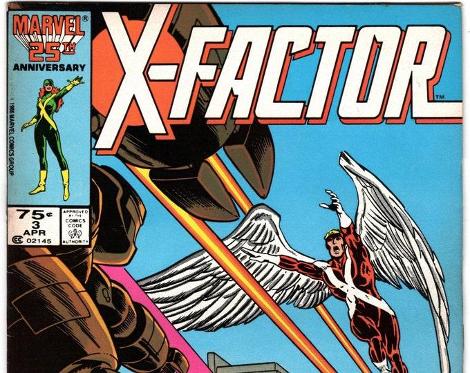 X-Factor #3 (1st Series 1986) April 1986    Marvel Comics   Grade VF-