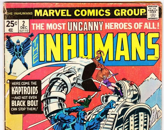 Inhumans #2  (1st Series 1975)  December 1975   Marvel Comics   Grade Fine-