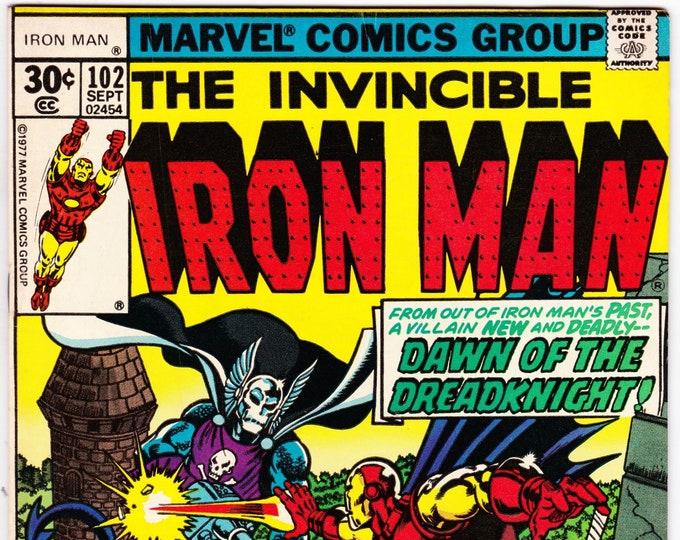 Iron Man #102 (1st Series 1968 ) September 1977    Marvel Comics  Grade Fine