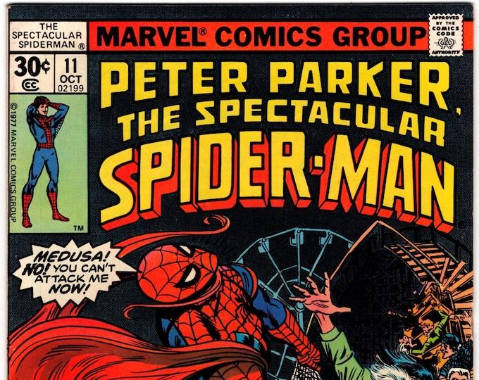 Spectacular Spider Man #11 (1st Series 1976) October 1977  Marvel Comics  Grade VF-