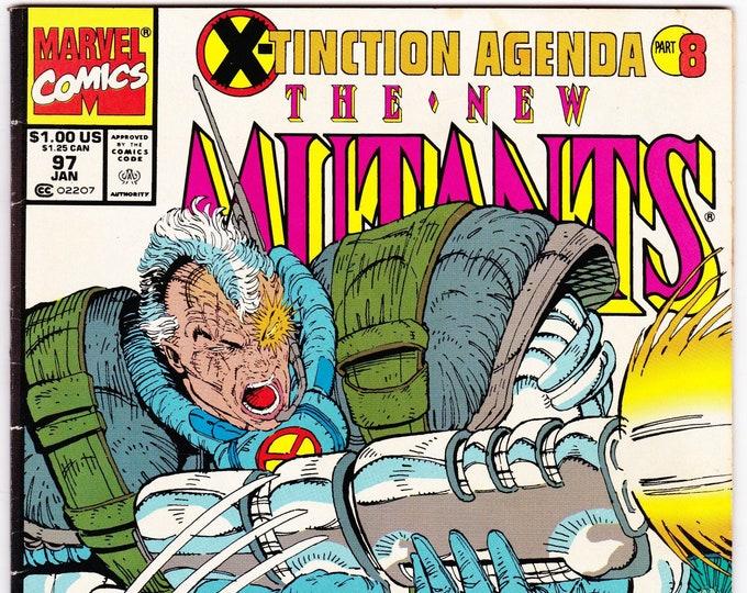 New Mutants #97 (1983 1st Series) January 1991  Marvel Comics Grade Fine-