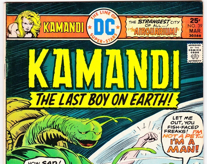 Kamandi #39 (1972 Series) March 1976   DC Comics    Grade Fine