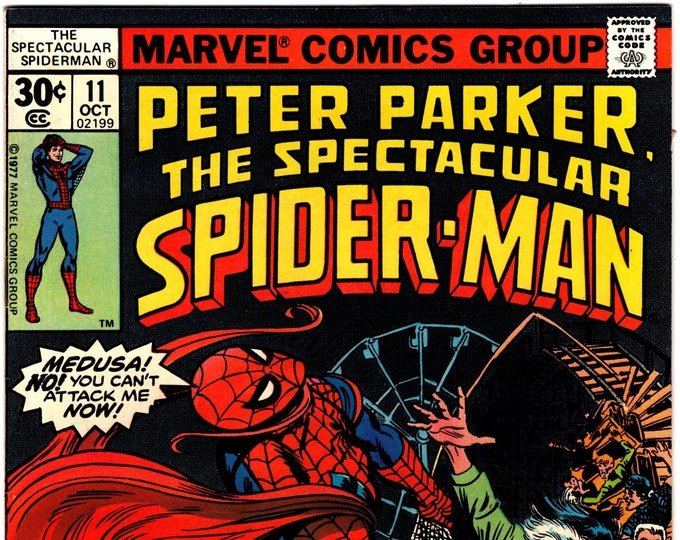 Spectacular Spider Man #11 (1st Series 1976) October 1977  Marvel Comics  Grade VF