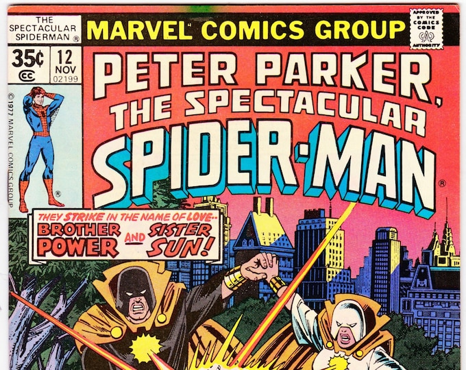 Spectacular Spider Man #12 (1st Series 1976) November 1977   Marvel Comics  Grade VF/NM