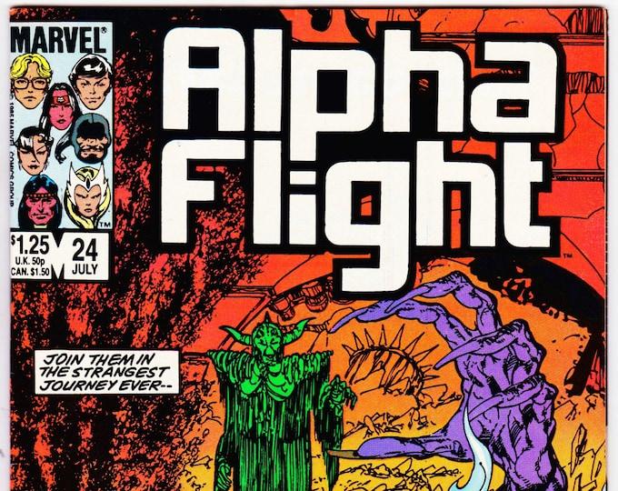 Alpha Flight #24 (1st Series 1983) July 1985 Marvel Comics  Grade NM