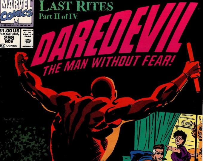 Daredevil #298 (1st Series 1964) November 1991  Marvel Comics  Grade VF/NM