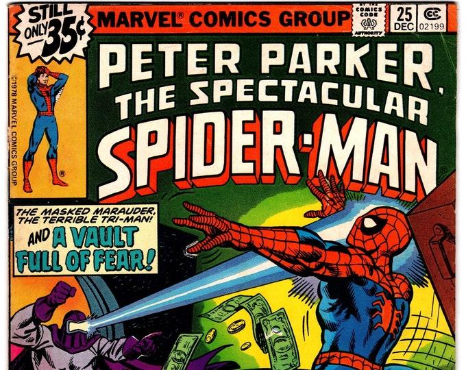 Spectacular Spider Man #25 (1st Series 1976) December 1978   Marvel Comics  Grade Fine