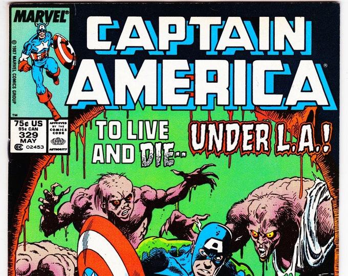 Captain America #329 (1st Series 1968) May 1987   Marvel Comics   Grade F+