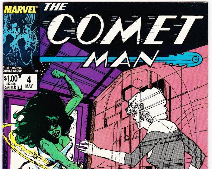 Comet Man #4 (1987) May 1987    Marvel Comics   Grade NM