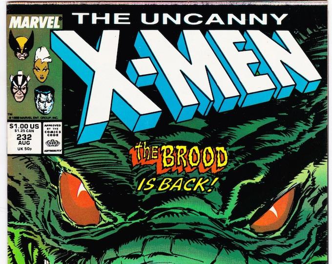 Uncanny X-Men #232   August 1988  Marvel Comics  Grade NM