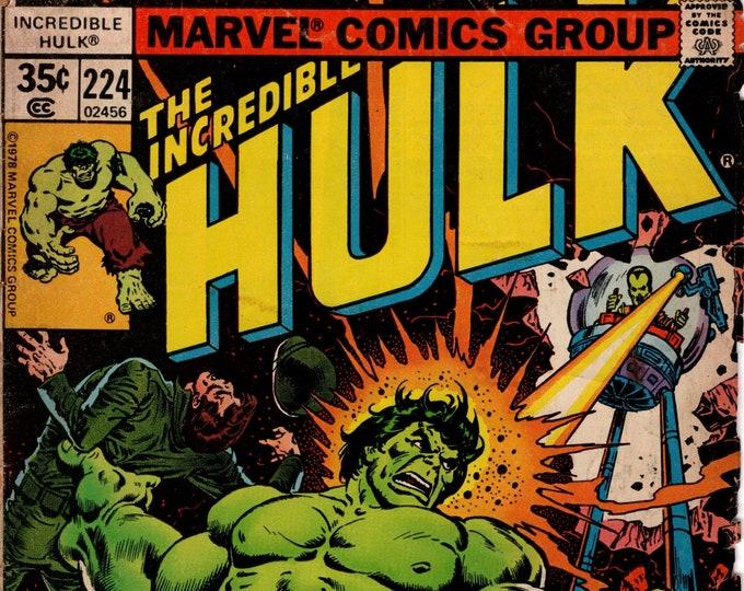 Incredible Hulk #224  (1st Series 1962-1999) September 1978    Marvel Comics  Grade G