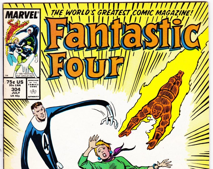 Fantastic Four #304 (1st Series 1961) July 1987  Marvel Comics  Grade VF