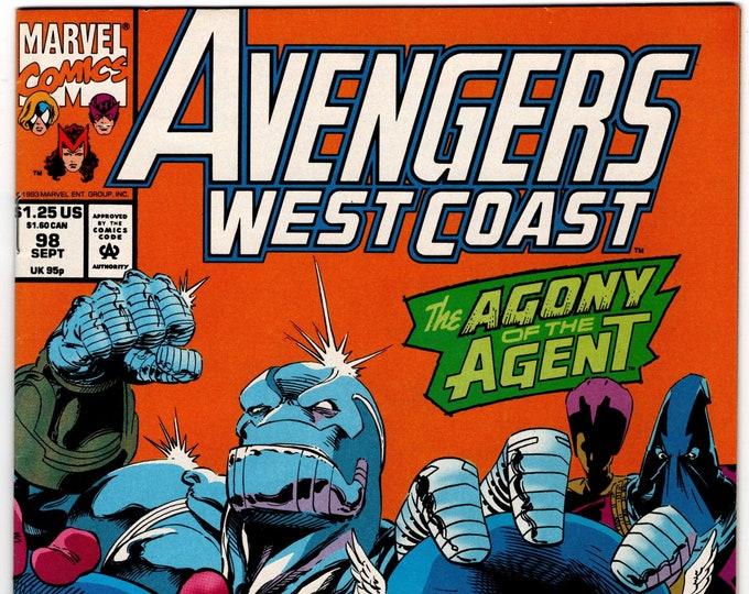 Avengers West Coast #98 (1985) September 1993   Marvel Comics   Grade NM