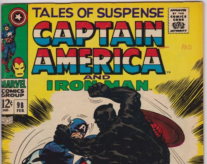 Tales of Suspense #98 (1st Series 1959) February 1968    Marvel Comics   Grade F/VF