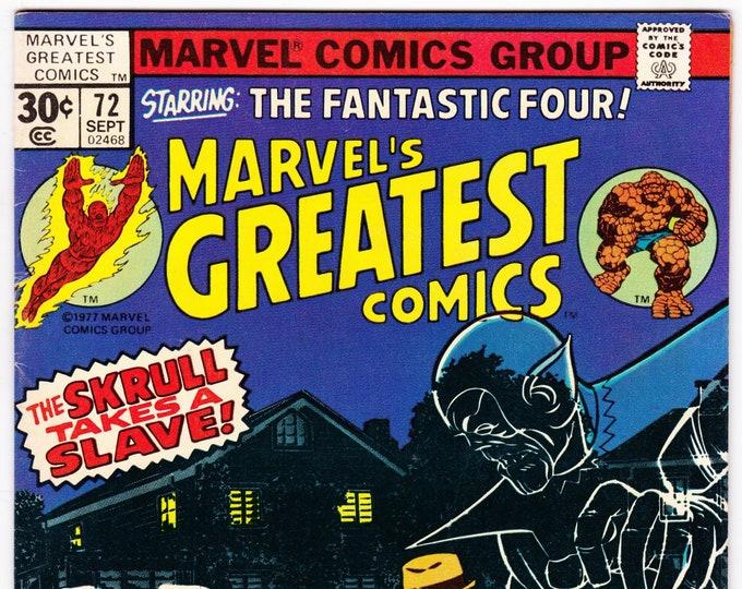 Marvel's Greatest Comics #72 (1st Series 1969) September 1977  Marvel Comics  Grade Fine